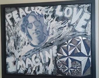 peace love Imagine