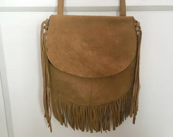 Suede Boho Over the Shoulder Purse