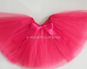 Hot Pink Tutu Skirt, Girls Hot Pink Tutu, Dress Up Tutu