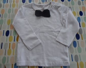Maternity gift: longsleeve with crochet bow tie