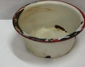 Small Vintage Enamelware pot
