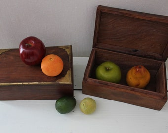 Pair Wooden Boxes