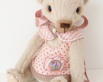 Hand made Collectable artist teddy bear stuffed animal OOAK Aida