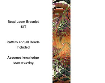 PP15 Bracelet Beading Kit - Delica Bracelet Bead Loom Weaving KIT or Peyote Stitch Bracelet Kit - Includes Pattern and Beads