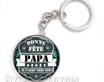 Cabochons glass 25mm #PA_CP07 dad keychain