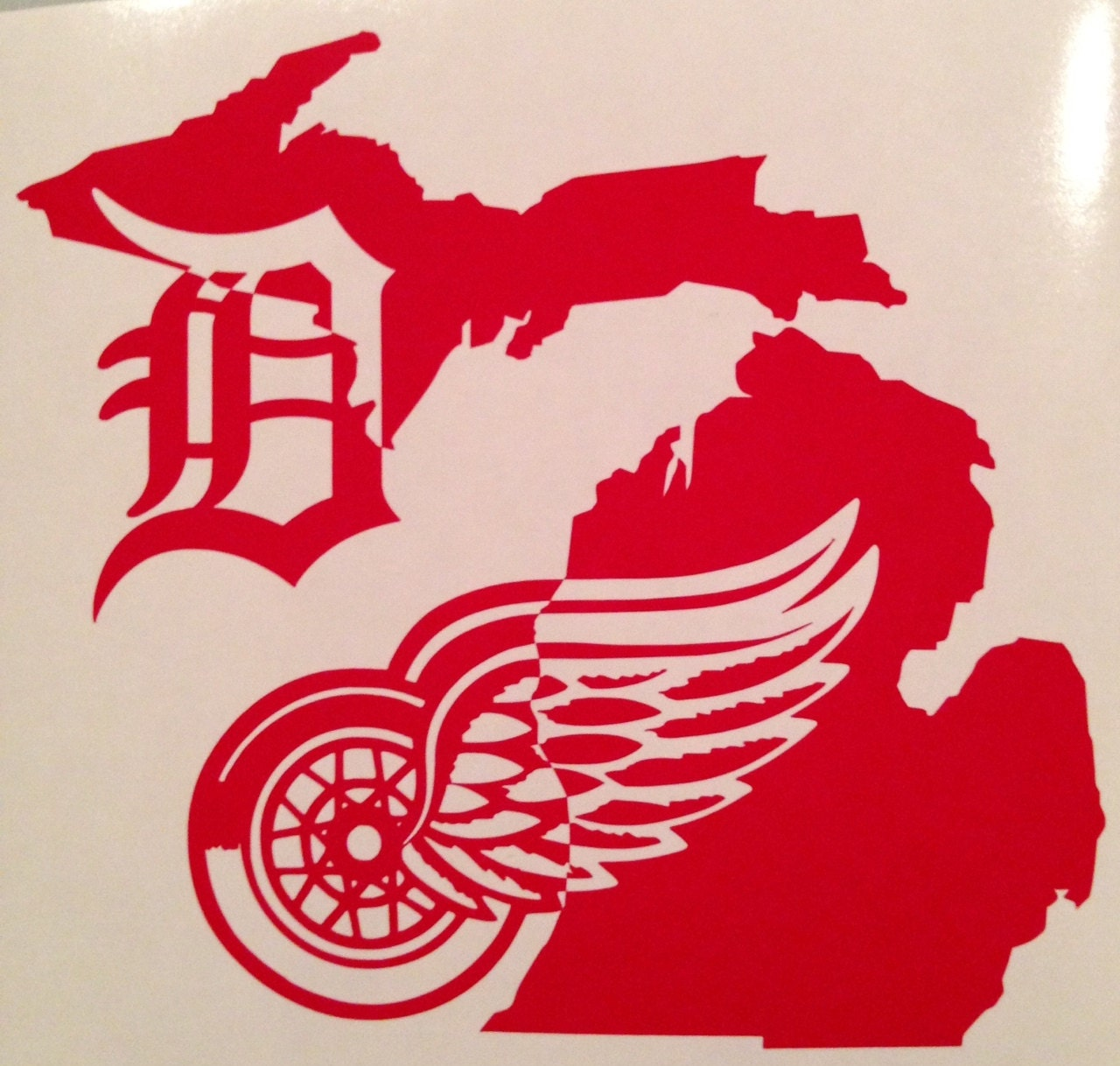 Detroit Red Wings Detroit Tigers Winged Wheel Old English D
