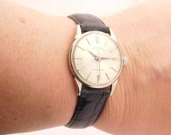 Vintage Men Lord Elgin Wrist Watch 10K White Gold Filled Selfwinding