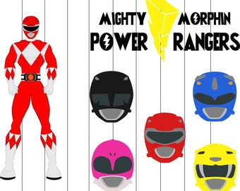 Power Rangers Svg, Clipart, png, eps files, Power rangers Cut files for cricut, Super hero Svg, Power rangers decal design for tranfer shirt