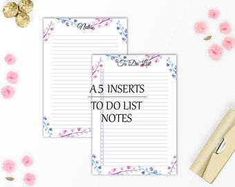 Planner inserts A5, Printable planner, College student planner, To do list, Instant download, Filofax a5 inserts