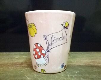 Princess Mug Name-mug colorful, hand painted