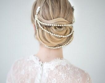 Bridal Hairpiece, Wedding Hair Combs, Wedding Headpiece, Pearl Hair Combs