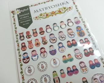 Adesivo di carta bella Matryoshka - 1 foglio
