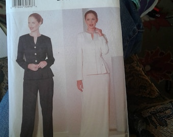 Butterick 6390 Women's suit and long skirt seing pattetn makes size 20 22 24