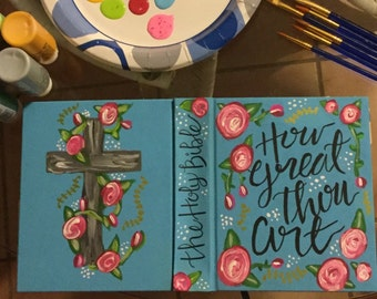 Painted Journaling Bible - How Great Thou Art