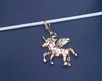 Sparkly Unicorn Travelers Notebook Planner Charm