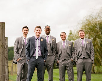 Wedding BOUTONNIERES - DIY - Ready to finish Your WAY - Hand Carved Lions - Groom is Head of the Pride  plus 5 Young Lions for Groomsmen