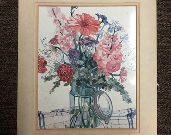 A Country Harvest Vintage Print