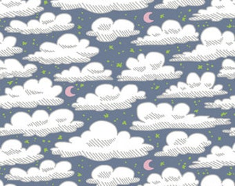 Organic Crib sheets & Mini crib sheets including Babybjorn Lotus 4Moms Arms Reach Bloom baby etc Gray white clouds moon stars night sky