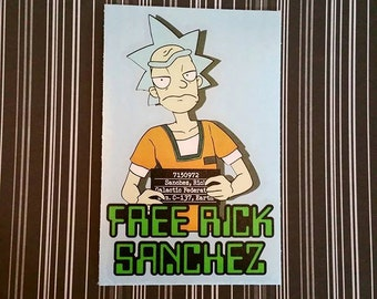 Free Rick Sanchez - Rick and Morty Fan Art Decal