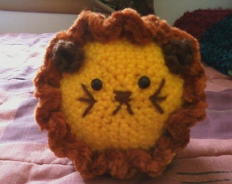 Lion Amigurumi - MADE to ORDER- Chubby Little Leo the Lion Toy
