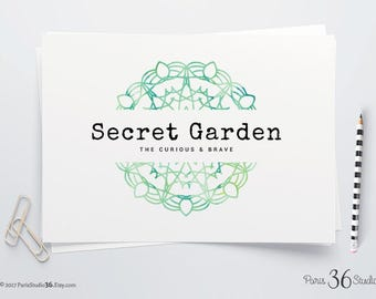 Instant Download Watercolor Mandala Logo DIY Logo PSD Template Photoshop Logo Premade Logo Photography Logo Website Logo Blog Logo Yoga Logo