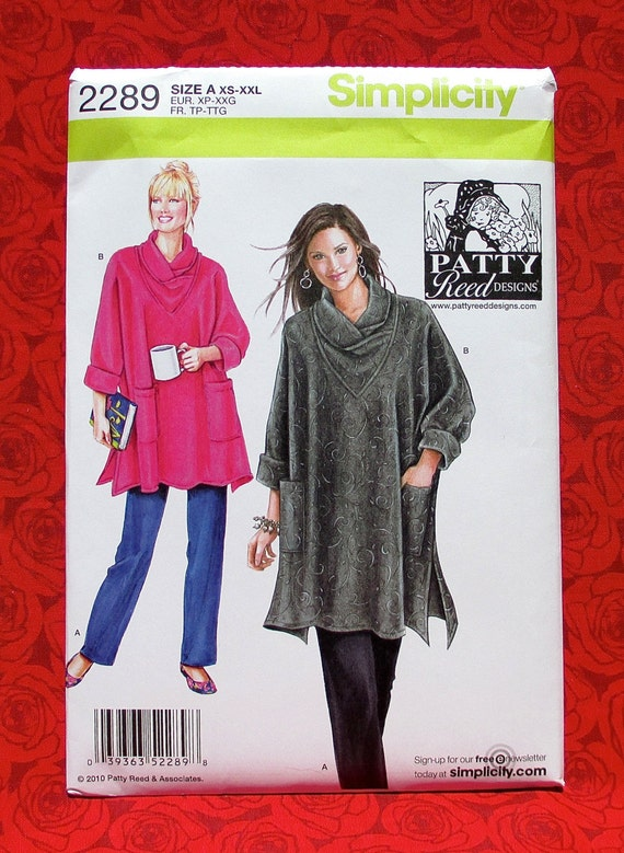 Simplicity Sewing Pattern 2289 Tunic Top Knit Pants Cowl Neck