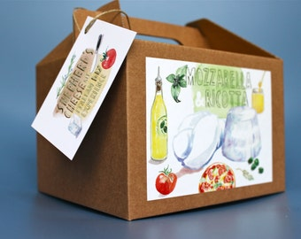 Mozzarella and Ricotta DIY cheese kit - multiple batches, vegetarian, handmade, gift box, artisan, cheese making, do it yourself food kit