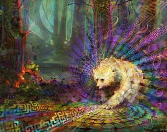 Spirit Bear - Art Prints by Simon Haiduk. Totem Animal Inspired Visionary Art