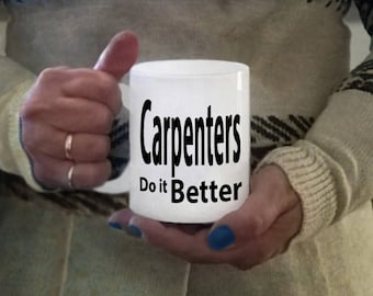 Ceramic carpenter mug, coffee mugs, carpenter gift items, coffee mug, carpenter gifts, carpenter mug, carpenter coffee cups, carpenter items