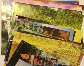 50 Full Page Magazine Cutouts l Large Magazine Clippings l Collage, Art Journal, Scapbooking Kit