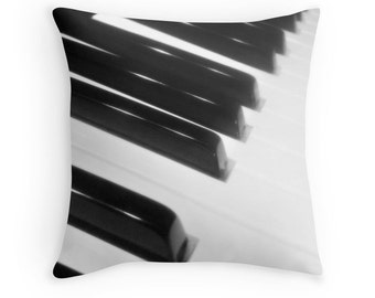 Piano Pillow, Music Pillow, Piano Throw Pillow, Piano Print, Instrument Print, Piano Photo, Piano Keys, Music Print