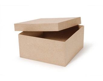 "Paper Mache Boxes, SET of TWO 6"" Paper Mache Boxes"