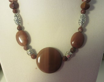 Mookaite and Red Ocean Jasper Necklace