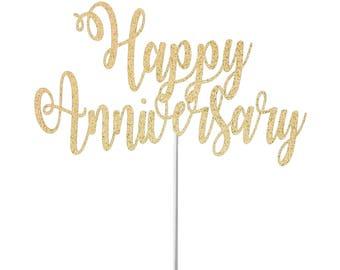 Happy anniversary cake topper anniversary topper wedding