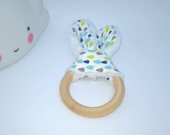 "Collection ""blue graphics"" teether drops blue, green and taupe"