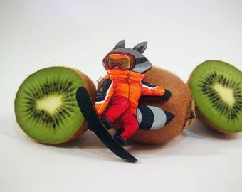 Snowboarder Raccoon