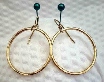 Gold filled hoop earrings