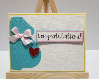 Congratulations | Mommy to be| Expecting| Handmade card|