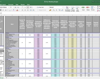 Wedding budget spreadsheet planner excel wedding budget your wedding budget template wedding planning template junglespirit Image collections