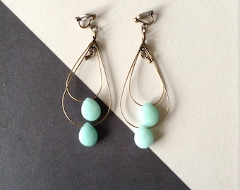 Earrings dangle and drops faceted