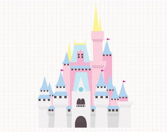 Disney Inspired Cinderella's Castle Digital CLIP ARTS personal and commercial use for invitations, cupcake toppers, cards, party supplies