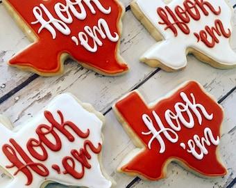 Hook 'em University of texas cookies