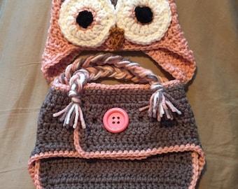 Owl Diaper Set