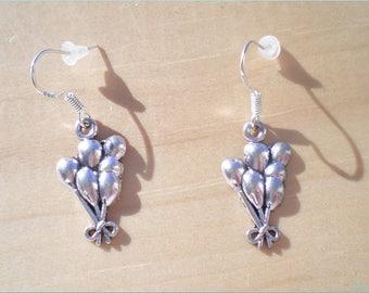 Balloon Earrings, Birthday Earrings, Party Earrings, Charm Earrings, Jewelry Findings
