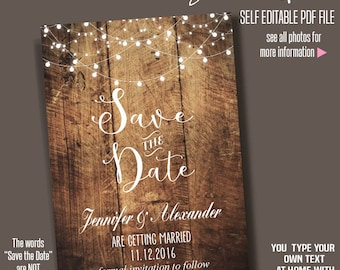 Wedding Save The Dates Etsy IN - Save the date templates free download