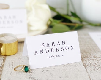 Traditional Place Card Template, Printable Escort Cards, Classic, Word or Pages, Mac or PC, Instant DOWNLOAD