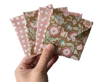 Set of 4 // Mini Square Envelopes // Floral Stationery // Floral Envelopes // Pastel Floral Stationery // Mini Envelopes // Square Envelopes