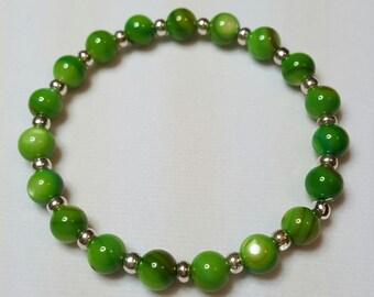 Green Earth Beaded Bracelet