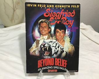 Siegfried & Roy Beyond Belief Souvenir Program Frontier Casino Las Vegas 1983