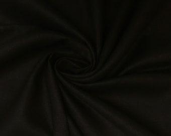 Black linen Haute Couture - 135cm x 90cm piece